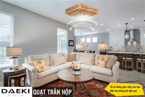 Có nên lắp quạt trần phòng khách không? 4 điểm cần lưu ý khi lắp đặt